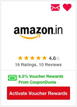 Shop on Amazon via CouponDunia for extra cashback